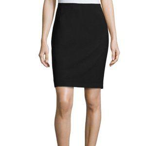 Tahari Black Straight Zip Stretch Above Knee Skirt